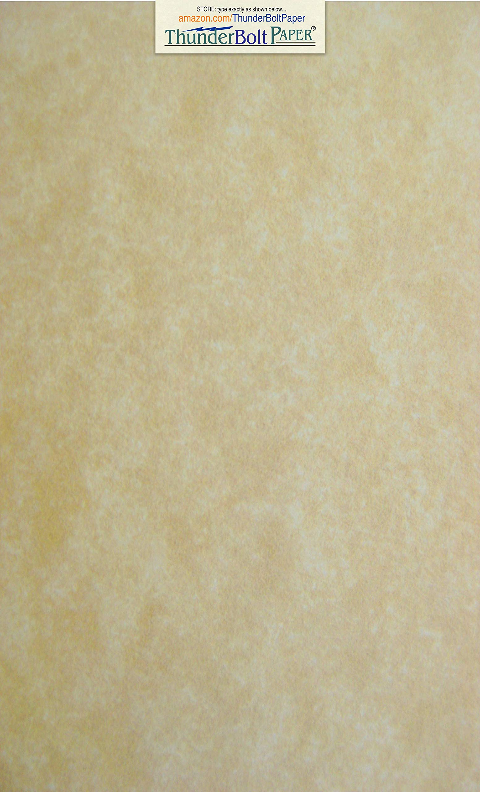150 Old Age Parchment 60# Text (=24# Bond) Paper Sheets - 8.5'' X 14'' (8.5X14 Inches) Legal|Menu Size - 60 Pound is Not Card Weight - Vintage Colored Old Parchment Semblance by ThunderBolt Paper
