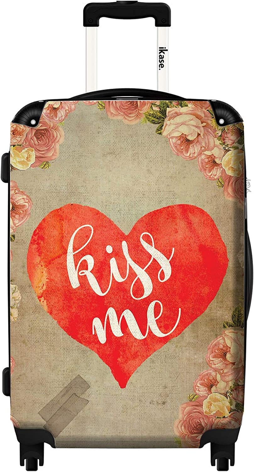 Kiss me,Hardside suitcase,Spinner,Upright Luggage,Carry-on 20 inches