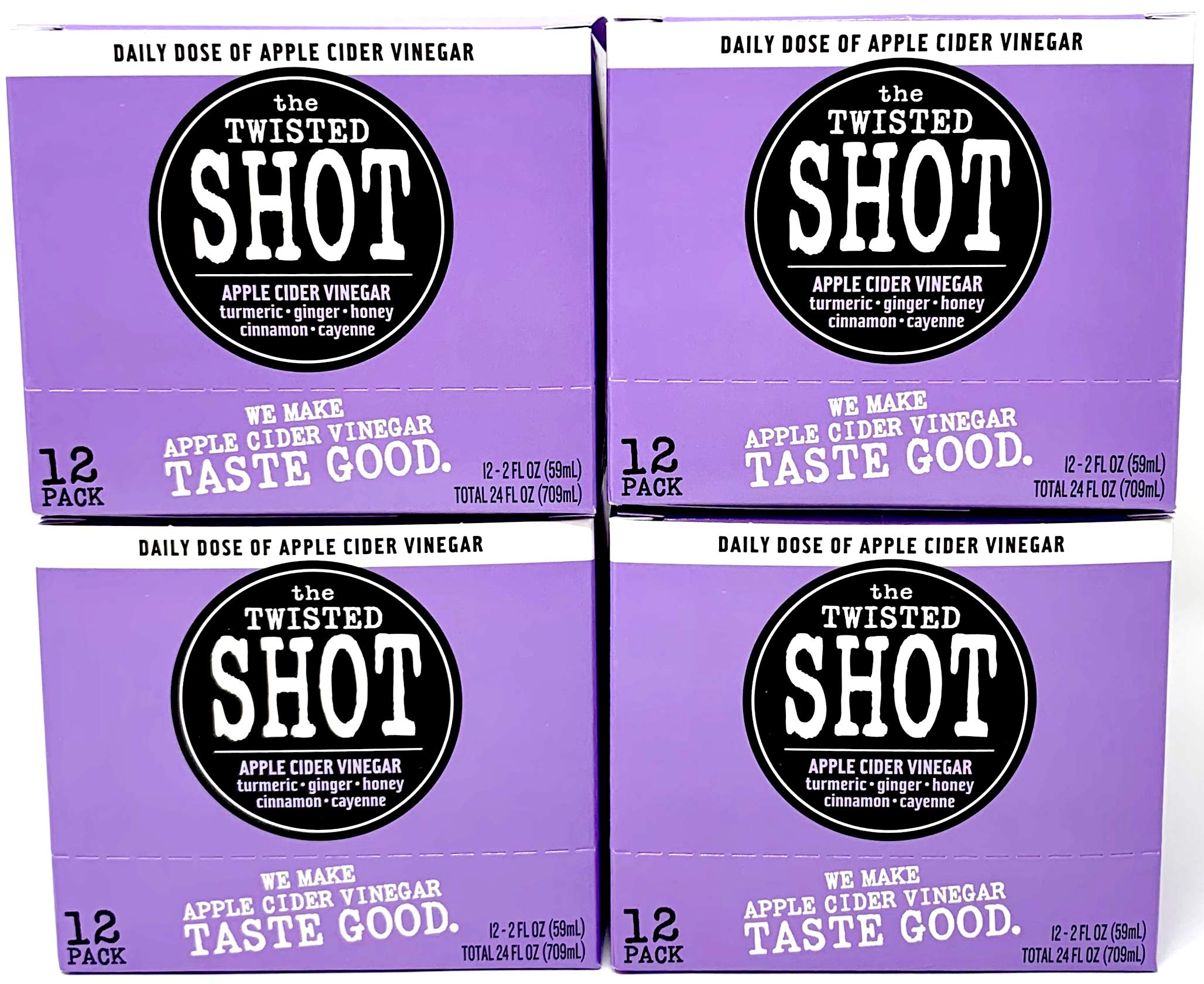 The Twisted Shot - Organic Apple Cider Vinegar shot with Turmeric, Ginger, Cinnamon, Honey & Cayenne - 48-pack of 2oz shots by The Twisted Shrub (Image #2)
