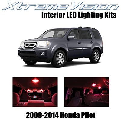 Xtremevision Interior LED for Honda Pilot 2009-2014 (16 Pieces) Red Interior LED Kit + Installation Tool: Automotive