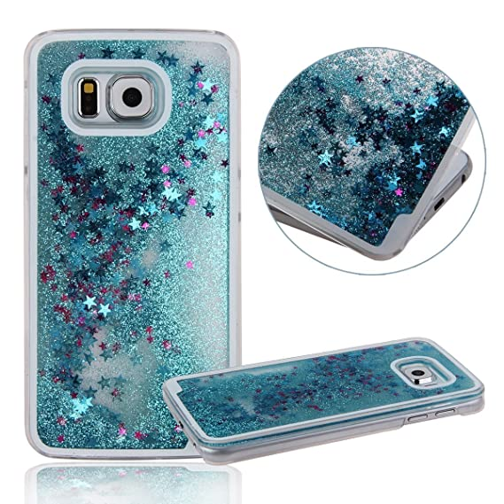 new product 637a1 81a7b Galaxy S6 Edge Plus Case, Myckuu™Liquid, Cool Quicksand Moving Stars Bling  Glitter Floating Dynamic Flowing Case Liquid Cover for Galaxy S6 Edge ...