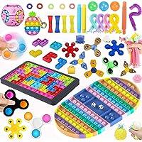 40 Pcs Fidget Toys Set Cheap,Figetget toys set ,Pop it Puzzle Fidget Jigsaw Toys,Big Pop Game Fidget Toy, Rainbow Chess…