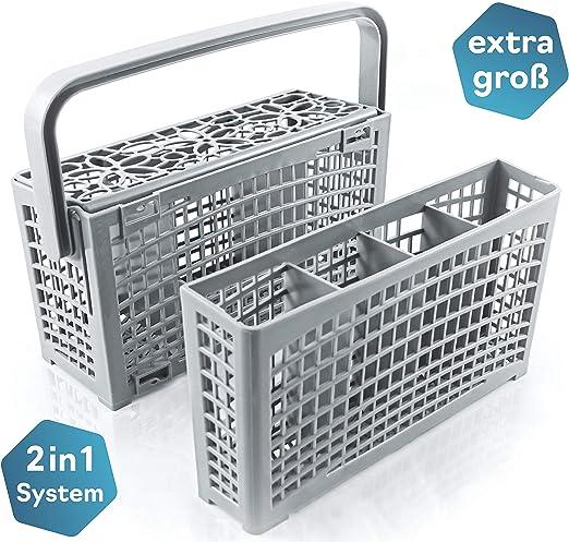 La cesta cubiertos lavavajillas original de Plemont® [23x8,5 & 4 ...