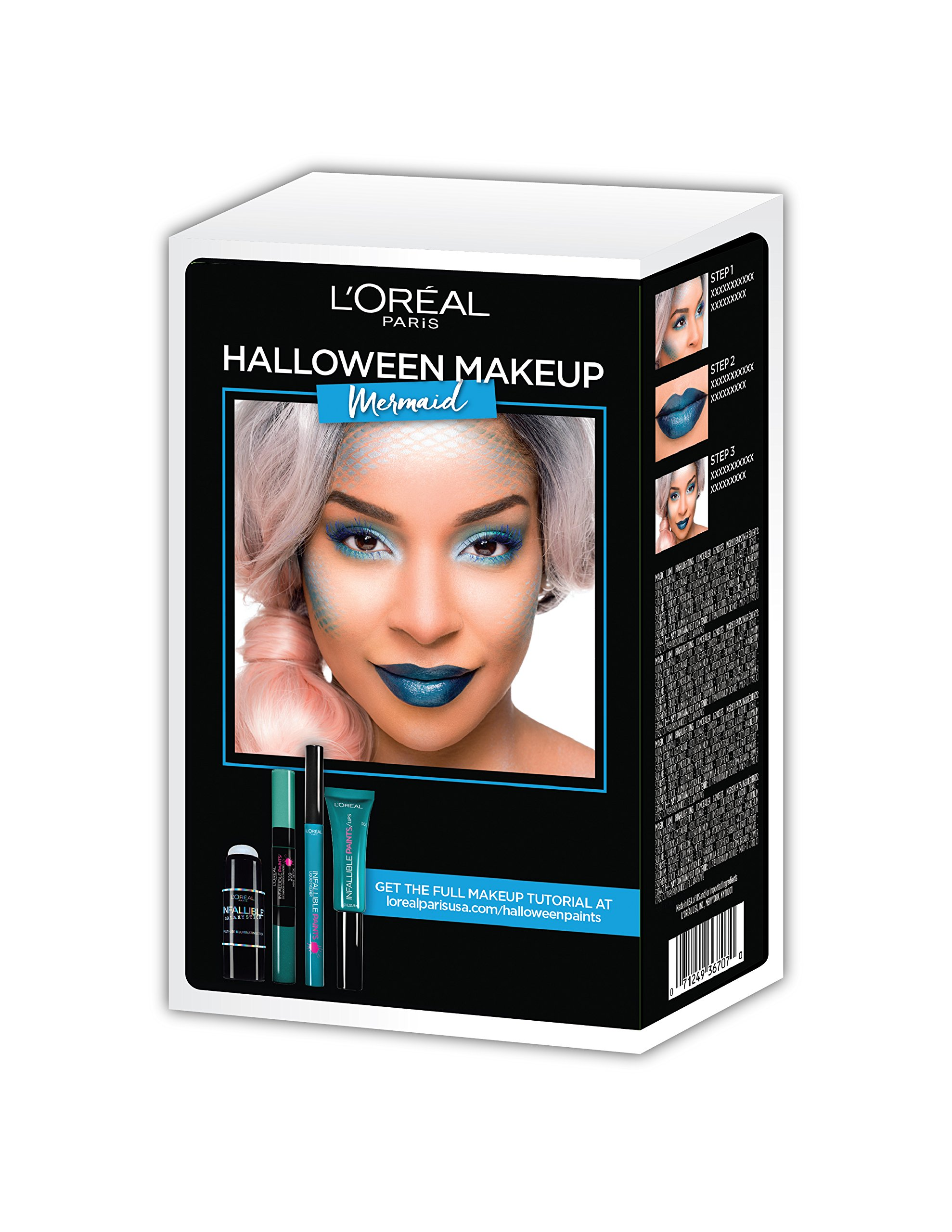 loreal paris cosmetics halloween makeup mermaid kit