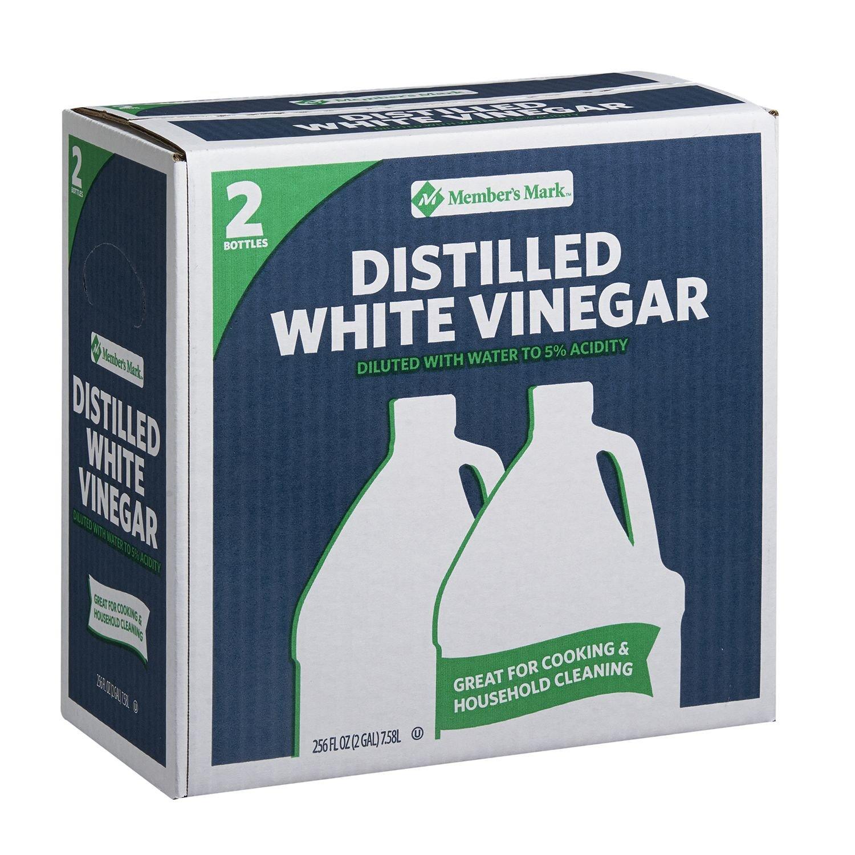 Member's Mark Distilled White Vinegar 1 gal. jug, 2 ct. (pack of 4) A1 by Member's Mark