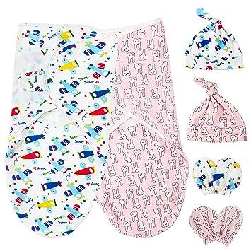 Baby Pucksack Pucktuch Strampelsack Aus 100/% Baumwolle Für Neugeborene 2er Pack