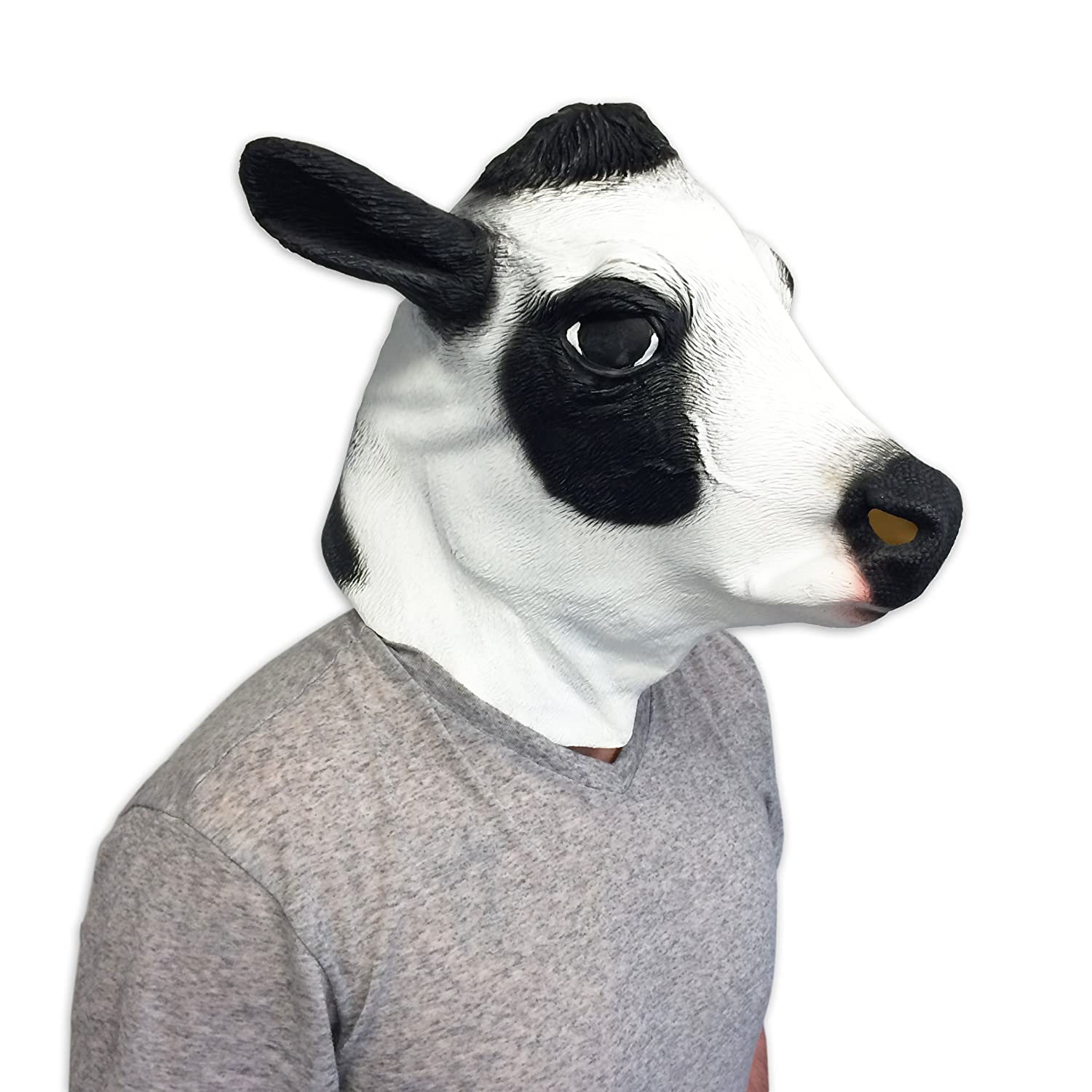 Amazon.com: Cow Mask   Funny Animal Masks   Off The Wall Toys: Toys U0026 Games