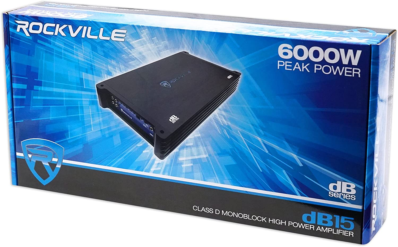 Rockville dB13 3000 Watt Peak 750w RMS @ 2 Ohm CEA Compliant Mono Car Amplifier