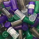 BIGSMOKESUPPLIES (50X) 19DR 19 Dram Pop Top Bottle Vials - 3.5 Gram Holding - RX LABELS INCLUDED & COLOURS AVAILABLE