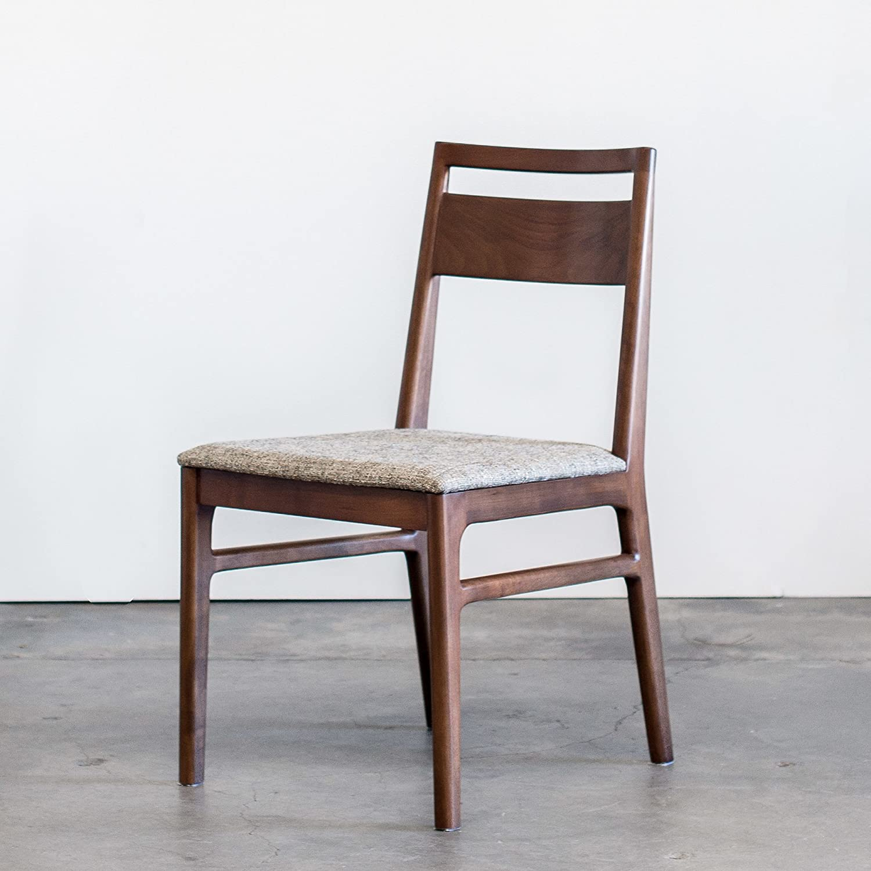 Amazon com greta mid century modern dining chair handmade solid walnut set of 2 chairs chairs