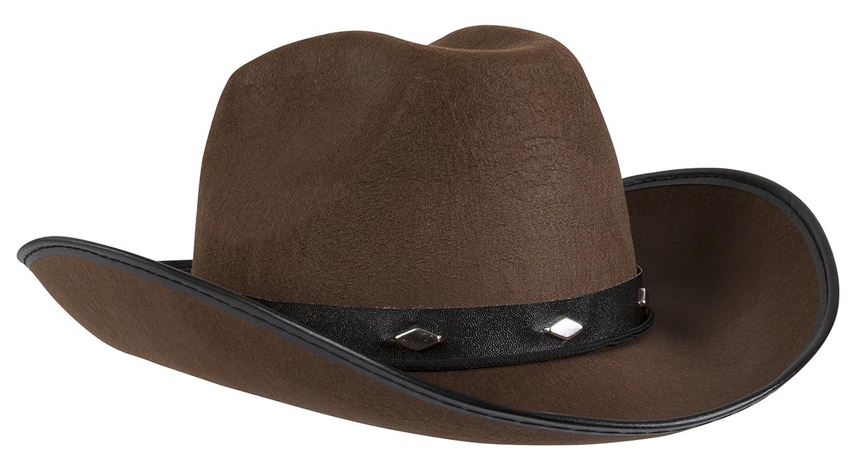 2a5e6833 Amazon.com: Kangaroo Brown Studded Cowboy Hat: Toys & Games