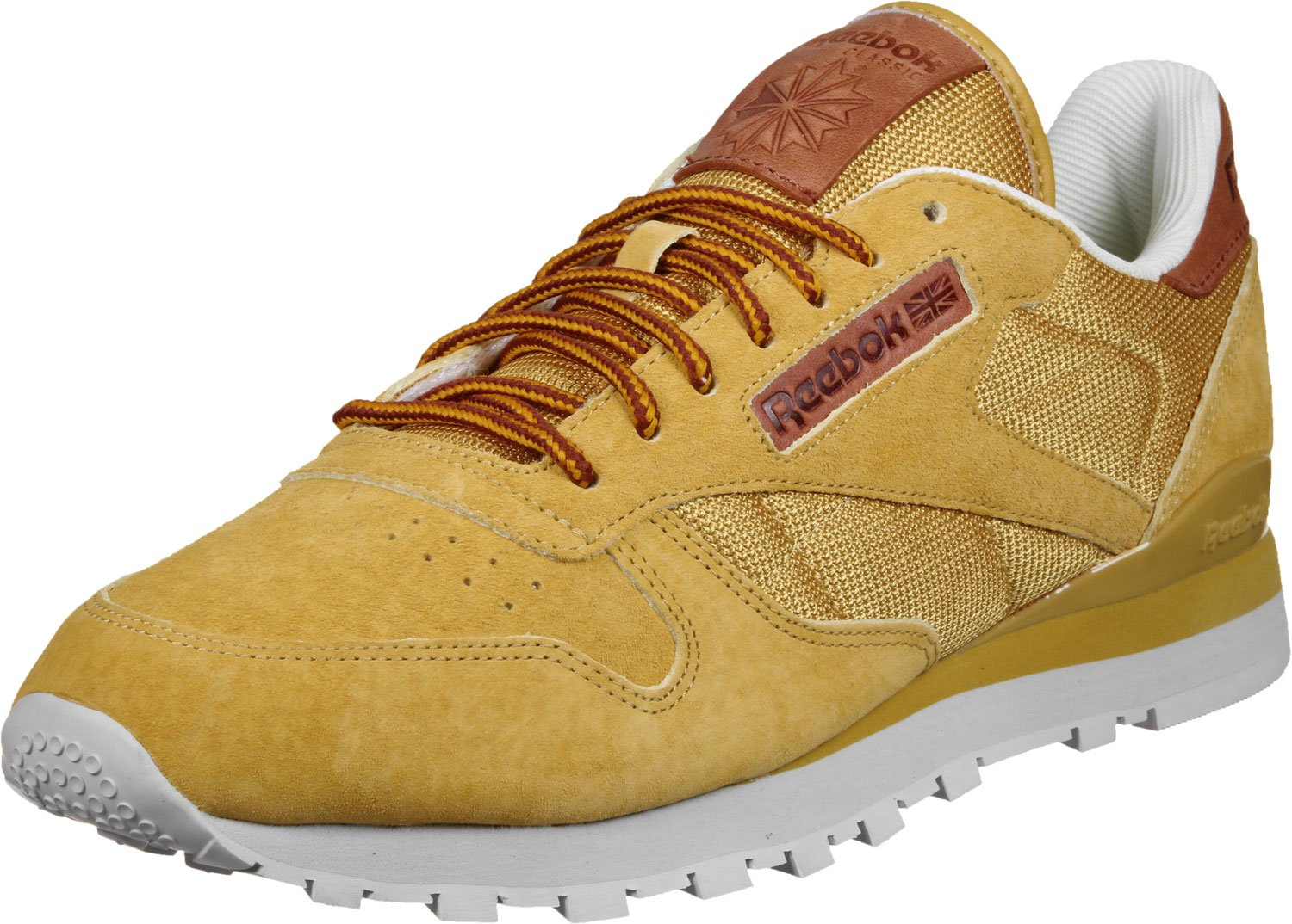 Reebok CL LEATHER OL golden wheat/steel/gold  44.5 EU|Gelb (golden wheat/steel/gold)