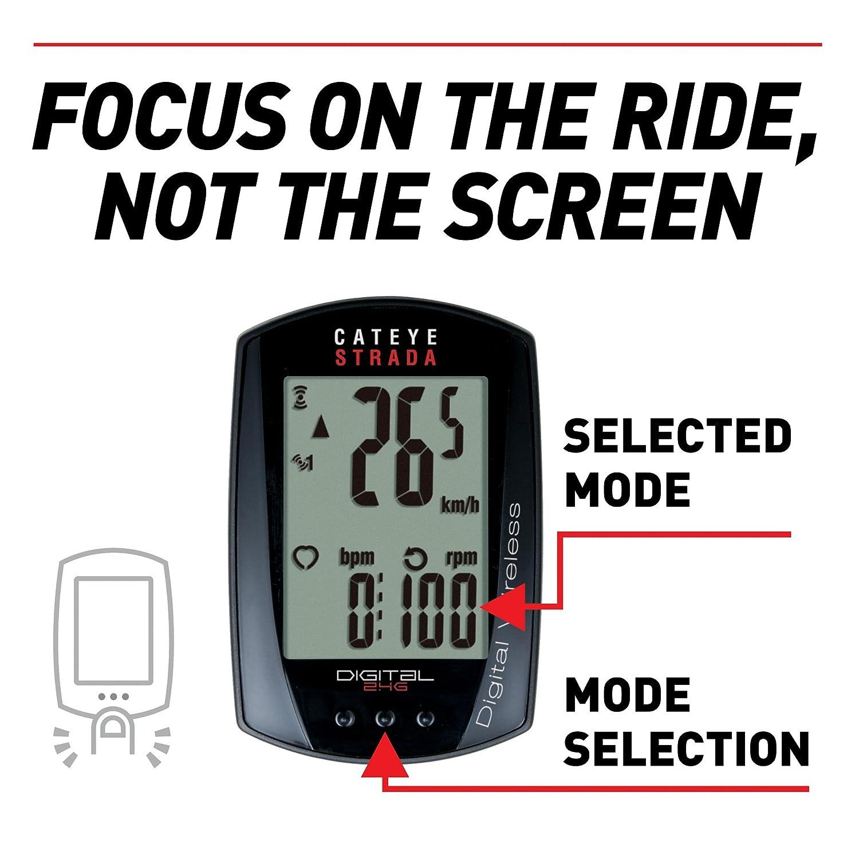 Cateye Strada Digital Wireless Cycle Computer Amazon Sports
