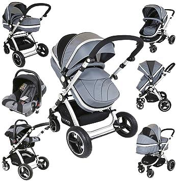 dc391ab08 i-Safe System - Grey Trio Travel System Pram   Luxury Stroller 3 in ...