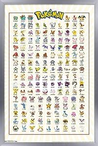 Trends International Pokémon - Kanto Grid Wall Poster, 14.725