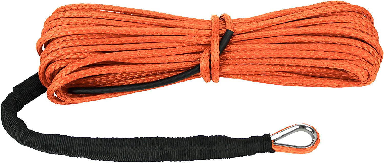Extreme Max 5600.3203 The Devils Hair ATV Orange UTV Winch Rope