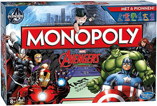 Hasbro Monopoly: Marvel Avengers Edition Game - Juego de Tablero (Multi, 6 Avengers Tokens, 6 Avengers Superpower Cards, 72 Location Markers, (12 for Each Super Hero), 16 S.): Amazon.es: Juguetes y juegos