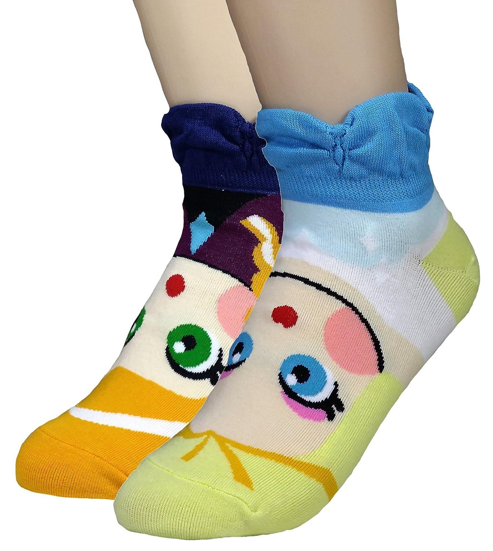 JJMax Girls Princess Series Character Socks: Elsa, Anna, Ariel, Snow White, Jasmine