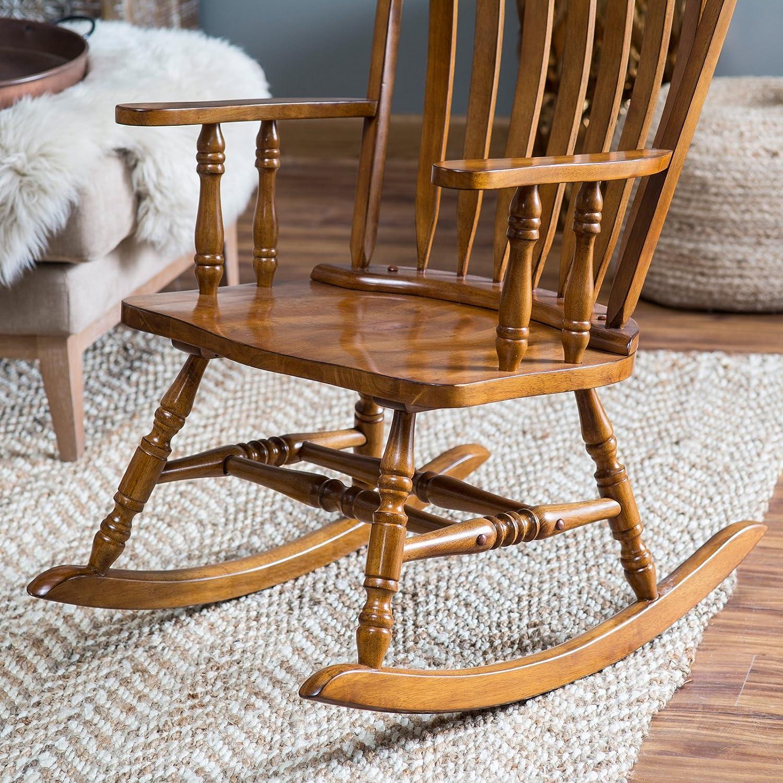 Amazon.com: Belham Living Windsor Rocking Chair - Oak: Kitchen ...