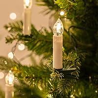 50er LED Weihnachtsbaum Lichterkette Kerzenlichterkette Innen