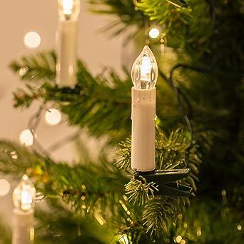 Tannenbaum Mit Kerzen.20er Led Weihnachtsbaum Kerzen Licherkette Koppelbar Bis 8 Sets Warmweiß Lights4fun