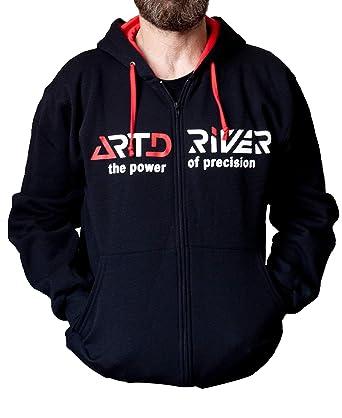 ARTDRIVER Merchandising Sudadera Clasica Manga Larga con Gorro, Logo Rojo/Blanco (XL)