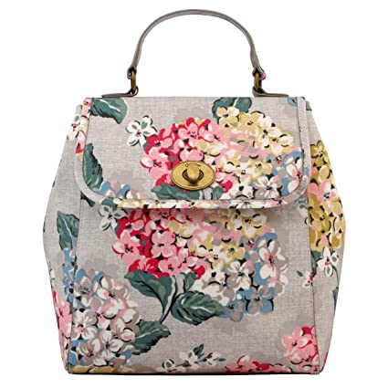 7db3d1402b5e9 Amazon.com: Cath Kidston Matt Oilcloth Turnlock Backpack Rucksack ...