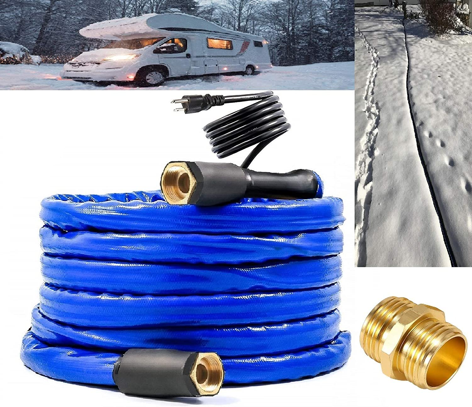 """H&G lifestyles Heated Water Hose for RV Outdoor Furniture 1/2"""" Inner Diameter Self-Regulating Withstand Temperatures Down to -40°F"""