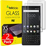 [2 Pack] BlackBerry KEY2 Screen Protector, [Edge to Edge Coverage] 3D Curved Fit Drop Protection Shatter-Proof Safety Laminated Tempered Glass Screen Cover/Display Shield for Key Two (Clear Frame)
