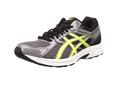 Asics Gel-Contend 3, Herren Laufschuhe, Schwarz (Carbon/Flash Yellow/
