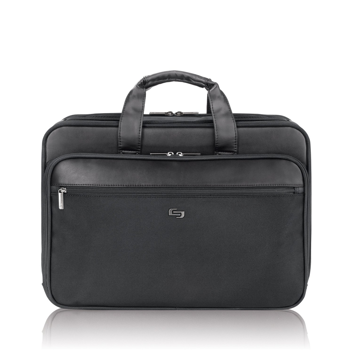 Solo Paramount 16 Inch Laptop Briefcase with Smart Strap, Black by SOLO