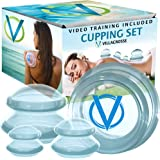 Villacrosse Silicone Massage Cups for Cupping | Cellulite Suction Cup and Silicone Cupping Therapy Sets | Anti Cellulite Vacuum Cup Set w/ Pdf and Video Tutorials for Massage Silicone Cupping Set