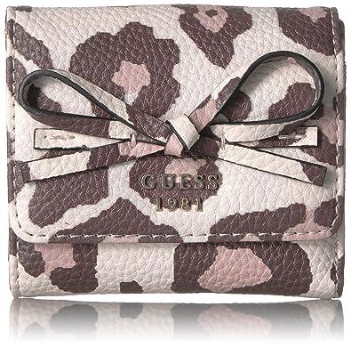 Amazon.com: Guess Mujer Leila leopardo Tarjeta cartera ...