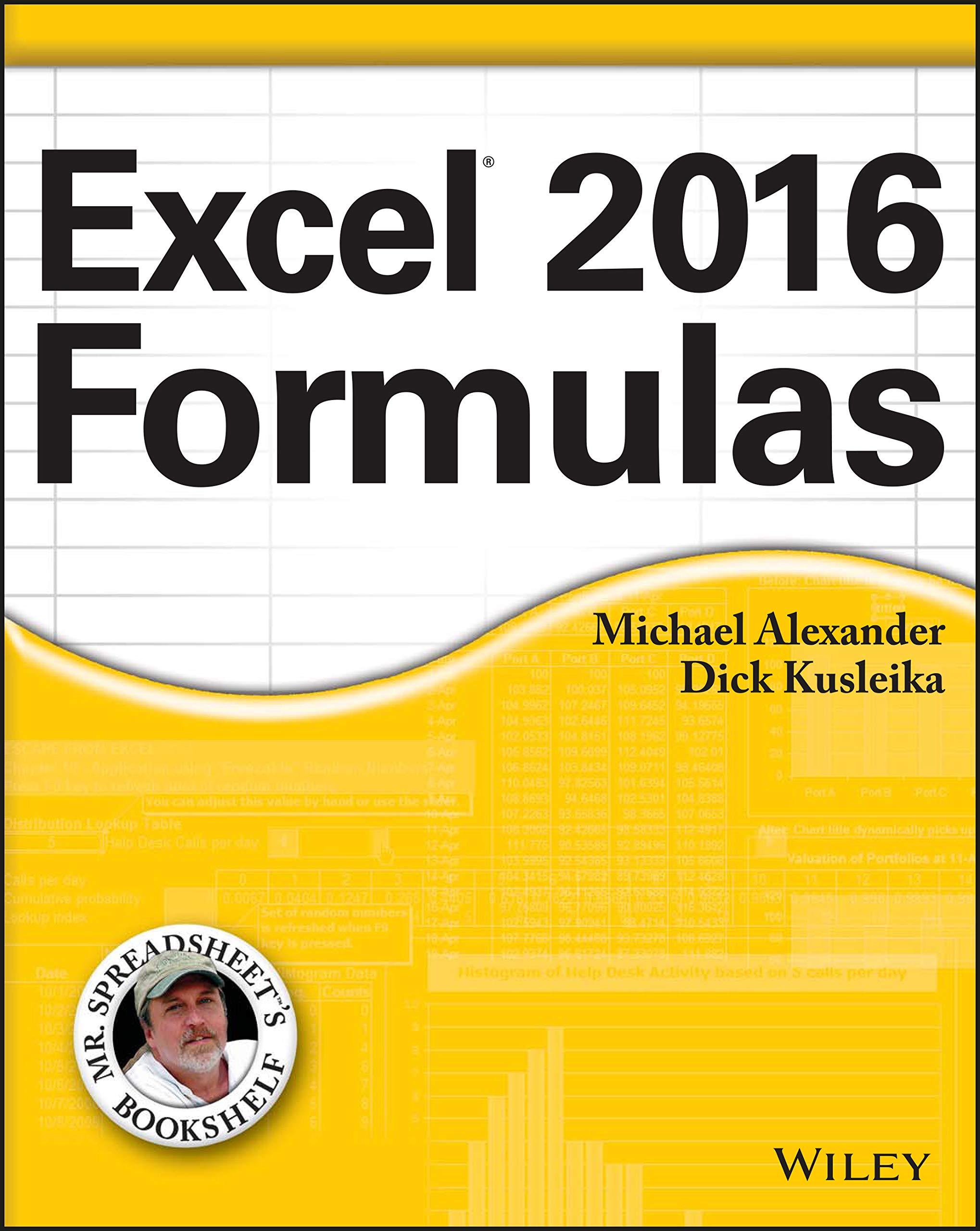 Excel 20 Formulas Mr. Spreadsheet's Bookshelf  Alexander ...