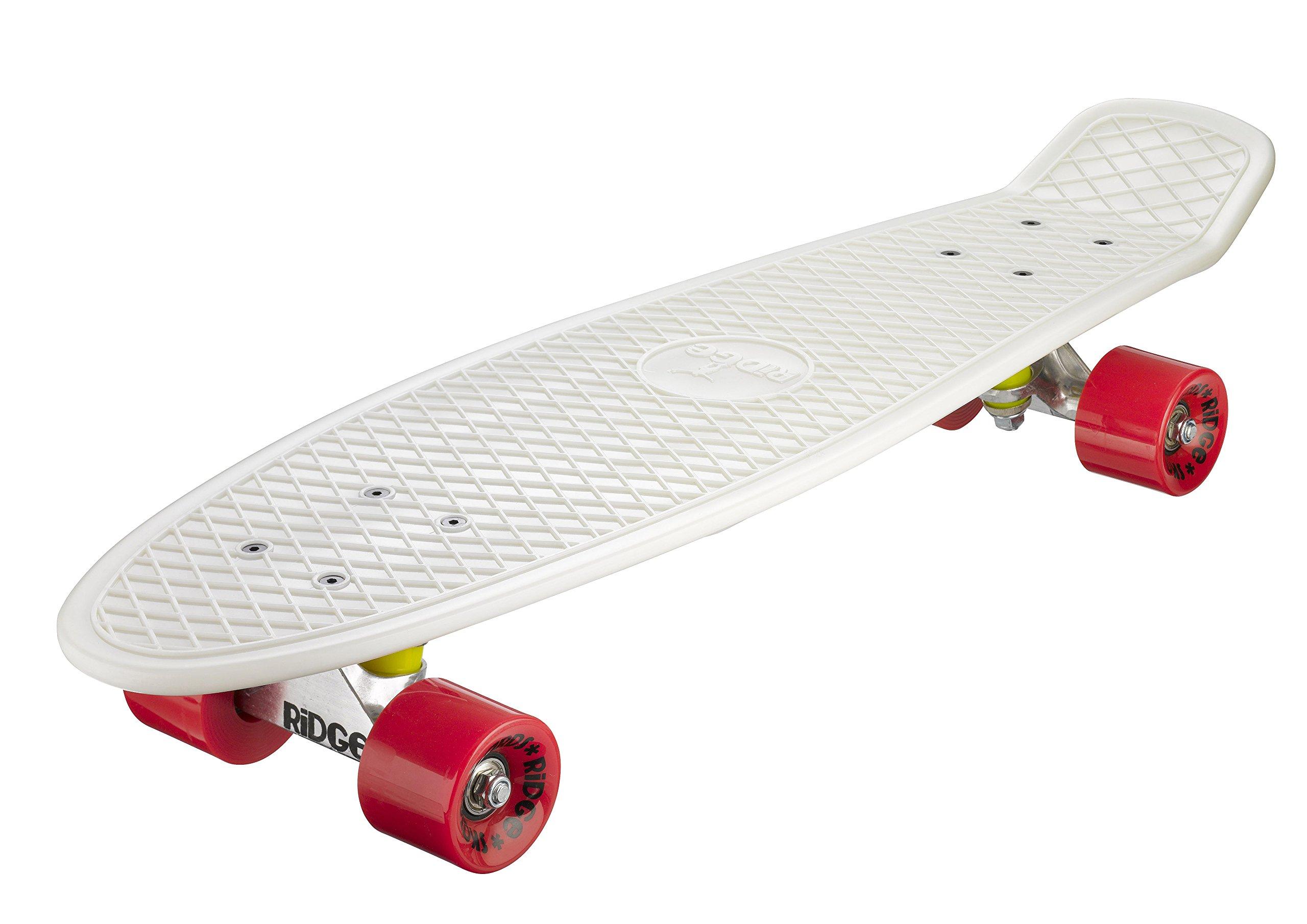 Ridge Skateboards Glow in Dark Big Brother Cruiser Skateboard - Red, 27-Inch