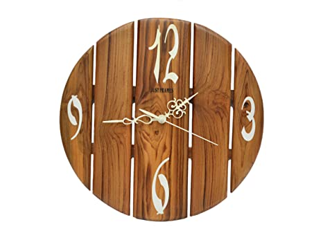 6d0a650ef087 Buy Classic Looking Hand-Crafted Designer Fancy Wooden Wall Clock Online at  Low Prices in India - Amazon.in