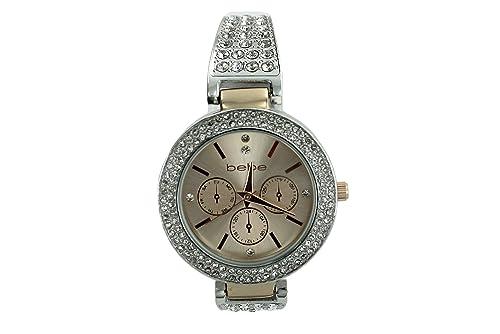 Amazon.com: Bebe Mujer Reloj acero inoxidable plata/oro ...