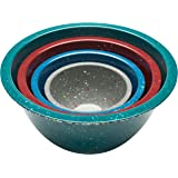 Zak! Designs Confetti Mixing Bowls (4 Piece Set), Durable and BPA-free Melamine, Urban