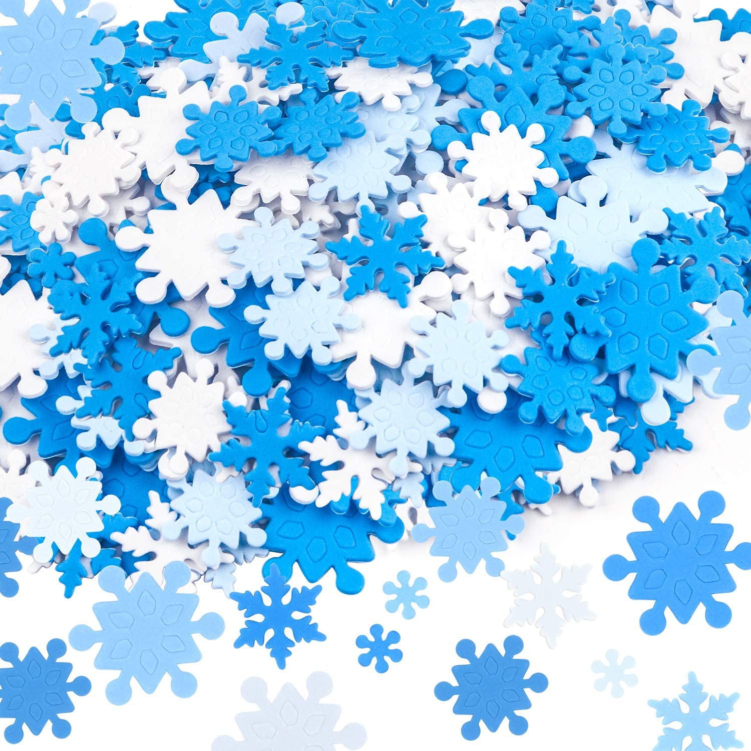 Great for Art for Kids Baker Ross EF435 Snowflake Glitter Stick on Stones Embellishing Arts and Crafts Scrapbook or for School Classroom Supplies Pack of 280