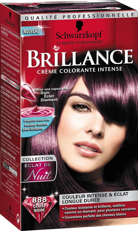schwarzkopf brillance coloration permanente eclat de nuit cerise noire 888 - Coloration Violet Sur Cheveux Noir