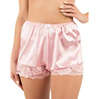 Satini Women's Lingerie Lace Briefs Panties French Knickers Satin Shorts