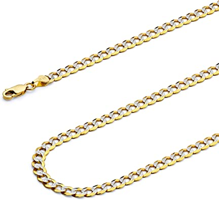 Wellingsale 14k Yellow Gold Polished 3mm ID Figaro Bracelet with Lobster Claw Clasp 6