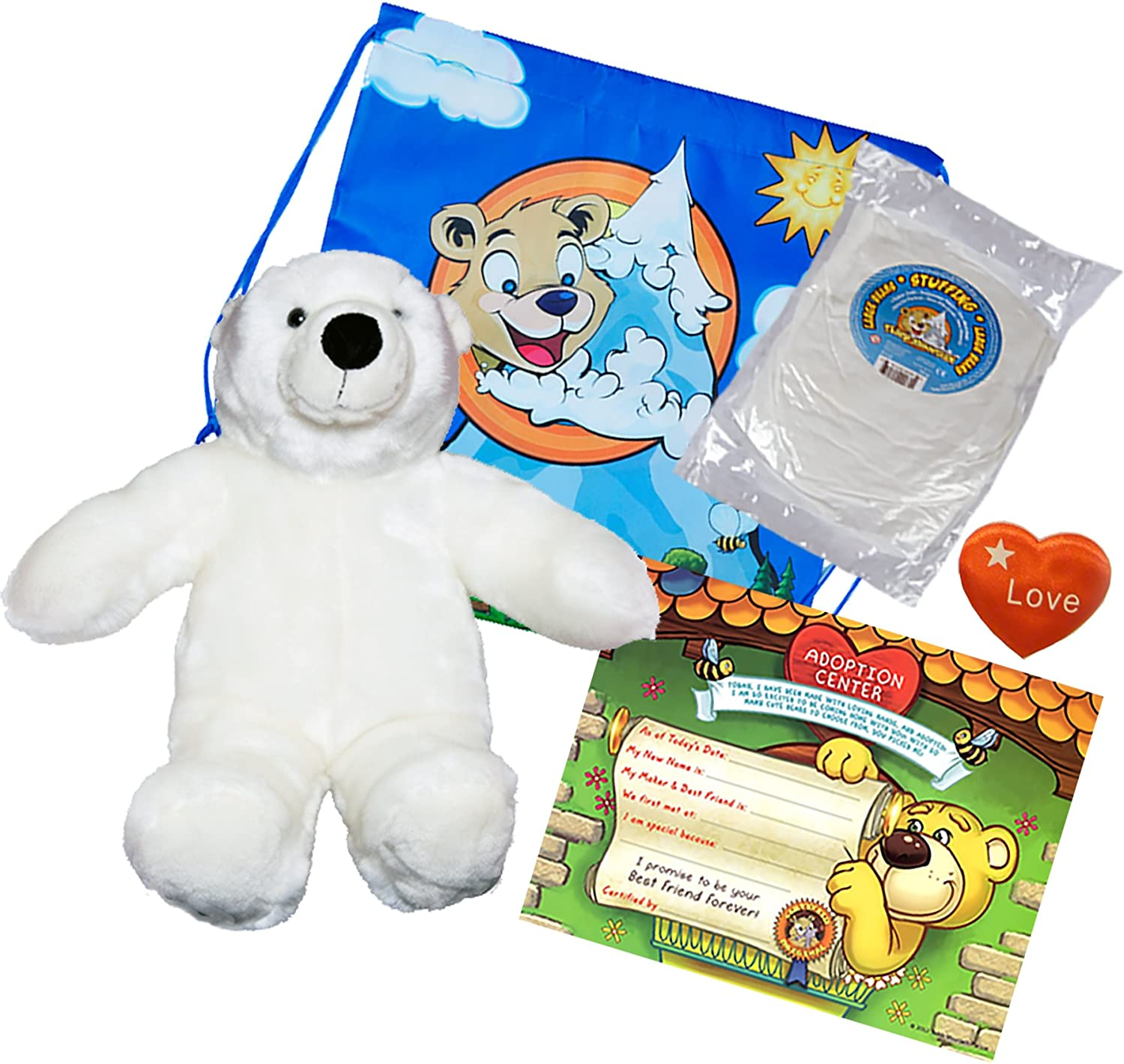 Record Your Own Plush 8 inch Nanook the Polar Bear Ready to Love in a Few Easy
