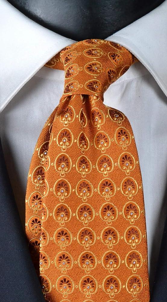 Corbata Hombre Seis pliegues Exclusive textura naranja con ...