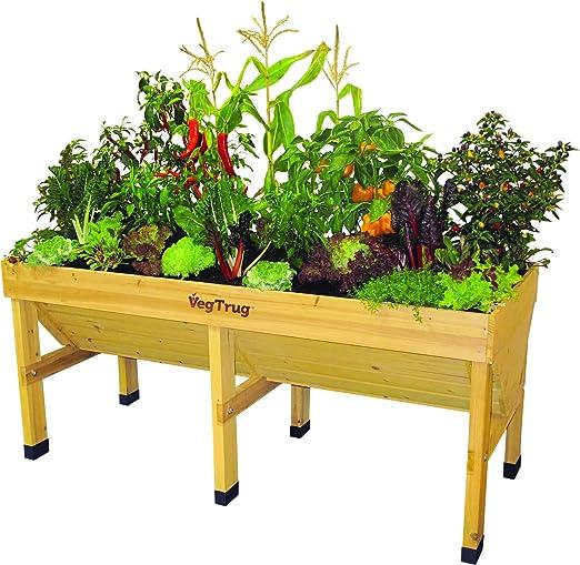 VegTrug Mesa de Cultivo de Madera Grande: Amazon.es: Jardín