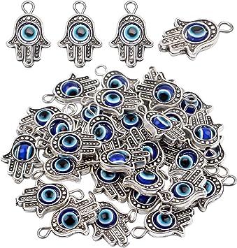 - Charming Beads - HA12925 Main 30 grammes Argent Antique Tib/étain M/élange Al/éatoire Breloques