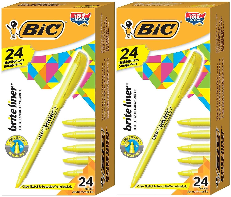 BIC Brite Liner evidenziatori fluorescenti/Pkg-assortiti 5 colori BLP51W-Ast