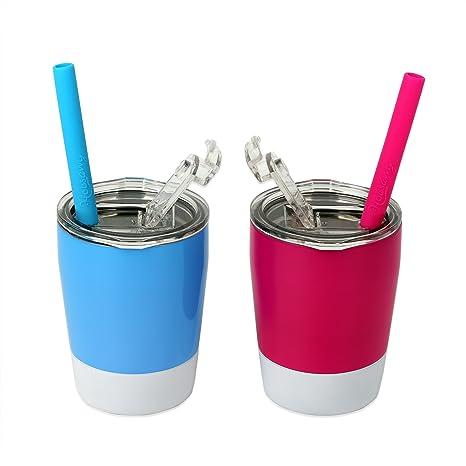 Amazon.com: Housavvy - Juego de 2 tazas de acero inoxidable ...