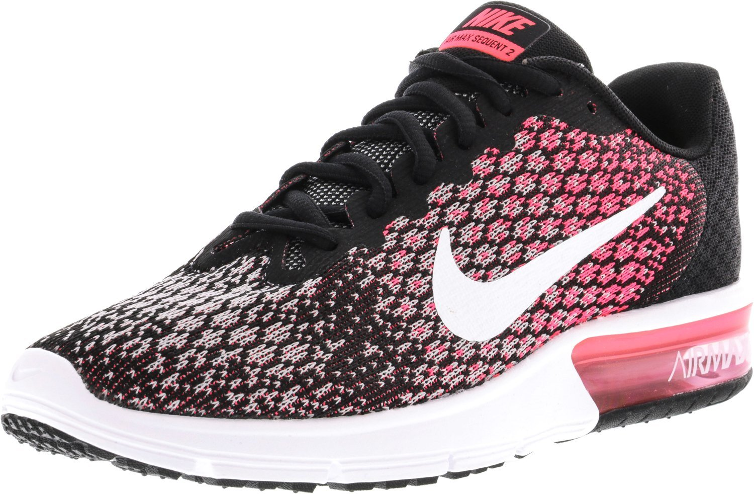 NIKE Men's Air Max Sequent 2 Running Shoe B01H4XBY7I 12 B(M) US|Black/White/Racer Pink