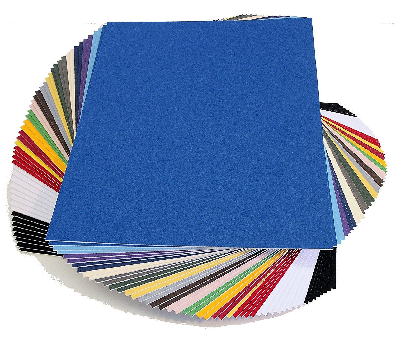 topseller100, Pack of 50 sheets 11x14 UNCUT mat matboard MIX Color matDdunCutMix11x14
